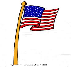 Usa Flag Vector Clipart Of A Cartoon American Flag Pole Royalty Free Vector