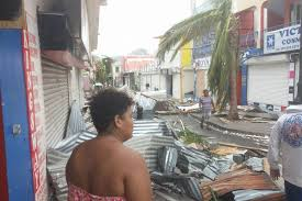 a shopping street in saint martin after hurricane irma abc news