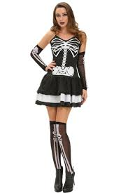 3pcs skeleton halloween masquerade costume wholesale