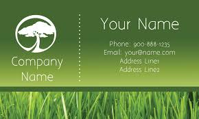 Lawncare Business Cards Care Green Business Card Design 1304111