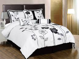 Queen Size White Duvet Cover Amazonsmile Chezmoi Collection 7 Piece White Grey And Black