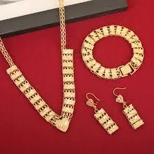 cheap gold necklace images Newest cheap golden jewellery girls dubai gold jewellery set jpg