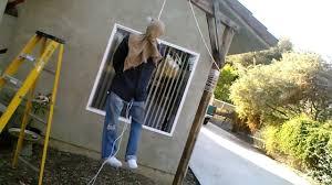 hanging man animated halloween prop 2012 update youtube