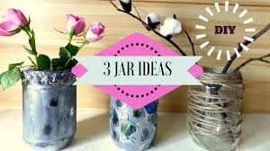 diy 3 recycling jar ideas jar crafts for home decor by fluffy