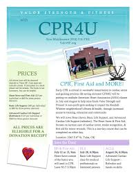 cpr classes and fundraising valor strength u0026 fitness