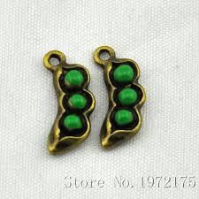 peas in a pod charm pea pod pendants antique bronze enamel epoxy pea pod charm