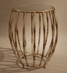 Bamboo Ideas For Decorating by Apartments Awesome Round Bamboo Accent Table Design With Glass