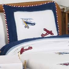 Airplane Bedding Sets by Sweet Jojo Designs Boys Vintage Airplane Twin 4 Piece Comforter