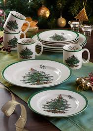 spode tree bread and butter plate set of 4