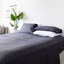charcoal bedding eucalyptus sheet set in charcoal bedding the beach people