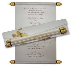 scroll wedding invitations scroll card wedding invitation in nigeria for tradition wedding