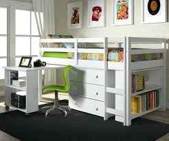 loft bed with desk white low loft bed with desk and storage twin