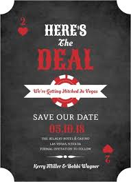 Online Save The Dates Chalkboard Poker Las Vegas Save The Date Announcement Las Vegas