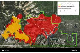 Alberta Wildfire Zones by Waterton Wildfire Update Blaze Grows By 33 000 Hectares Visitor