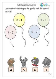 maths sheets for year 1 subtraction in year 1 age 5 6