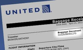 united airlines domestic baggage find your baggage document number