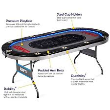 10 player poker table espn 10 player premium poker table with led lights best price