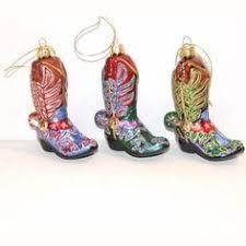 american flag cowboy boot ornaments
