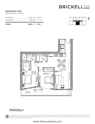 100 1060 brickell floor plans brickell city center le parc