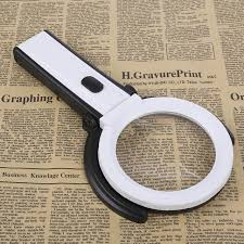 magnifier with led light foldable magnifier led light 1 8x 5x magnifying glasses magnifying