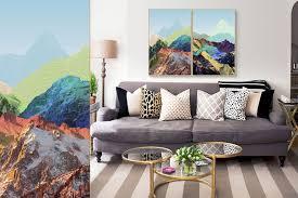wall hanging acrylic painting mountain range tianyu art space