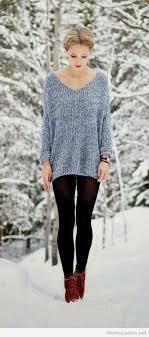 what to wear with light brown boots blue sweater black pants and brown boots
