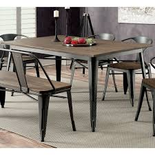 60 inch kitchen table furniture of america tripton industrial grey wood metal 60 inch