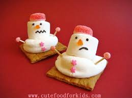 cute food for kids oh no my snowmen are melting