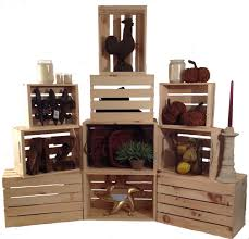 rustic stacking crates wood retail display homegoods giftshop
