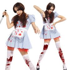 Dorthy Halloween Costume Scary Zombie Dorothy Maid Undead Ladies Fancy Dress Halloween