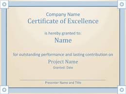 Free Certificate Of Excellence Template Employee Award Certificate Of Excellence Template Employee