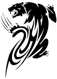 tribal black panther tattoo design