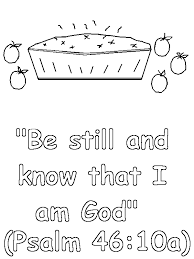 psalms 46 10a coloring page lorain county free net children u0027s chapel