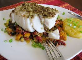 provencal cuisine olive encrusted pacific seabass and provencal vegetables she s