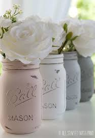 How To Paint A Glass Vase With Acrylic Paint How To Paint And Distress Mason Jars