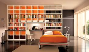 apartments handsome best chic built bookshelves bedroom for