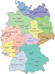 map of deutschland germany map of the federal states places in germany