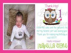 first birthday thank you card charlee u0027s first birthday party