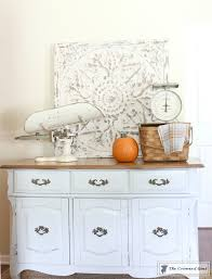 buffet makeover in sea gull gray u2013 the crowned goat