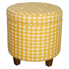 Yellow Ottoman Storage For Pet Toys In The Living Room Tufted Storage Ottoman