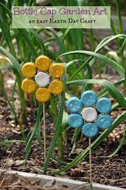 Garden Crafts Ideas Easy Earth Day Craft Bottle Cap Garden Suburbia Unwrapped