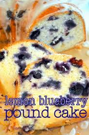 lemon blueberry pound cake with tart lemon glaze cookin u0027 cowgirl