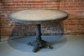 Zinc Top Bistro Table Round Zinc Top Table At 1stdibs