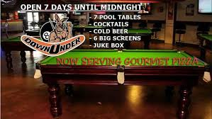 pool table near me open now the downunder pool bar cafe aroundyou