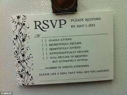 rsvp wedding an australian sent the best wedding rsvp card
