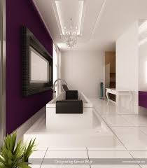 bathroom best combination of purple and white colored themed room