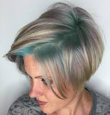 high lighted hair with gray roots blonde red brown ombre ed and highlighted pixie cuts for any taste