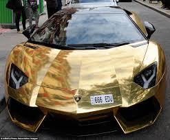 lamborghini aventador per gallon gold lamborghini worth 4m pictured in could be s most