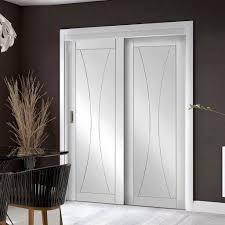 easi slide op3 white verona flush sliding door system in four size