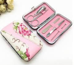 manicure set favors wmso2019 flower purse manicure set favors 5 pink as low